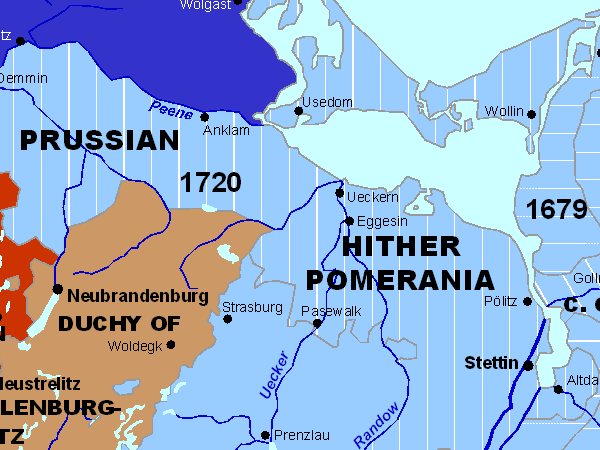 Historical Map Sample Pomerania 1789
