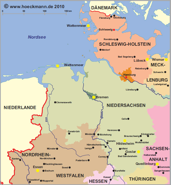 Norden Germany  City pictures : ... Map of the Most Famous Sights in the North of Germany