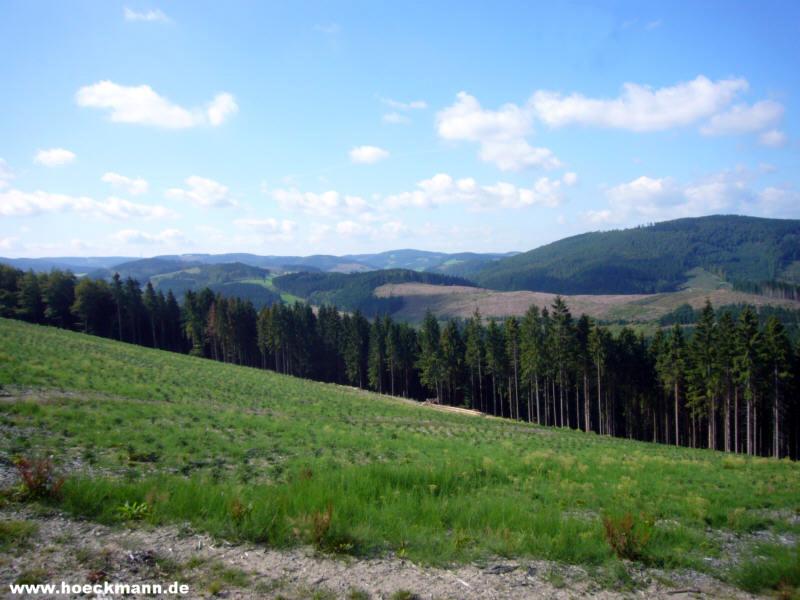 Sauerland Karte Berge.Blick Nach Suden Uber Die Berge Bei Heinrichdorf